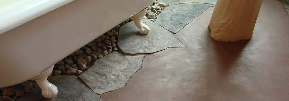Close up photo of a beautiful earthen floor (also known as adobe floor)